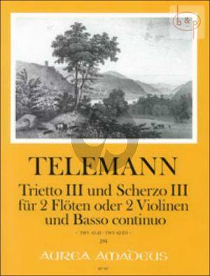 Trietto III und Scherzo III (TWV 42:d1 - TWV 42:D3)