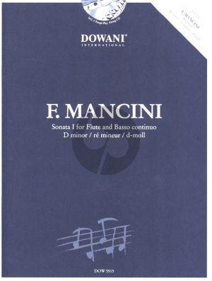 Mancini Sonata No.1 d-minor Flute and Bc (Bk-Cd) (Dowani)