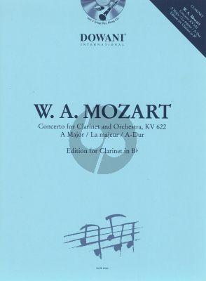 Mozart Concerto A-dur klarinette-orchester KV622