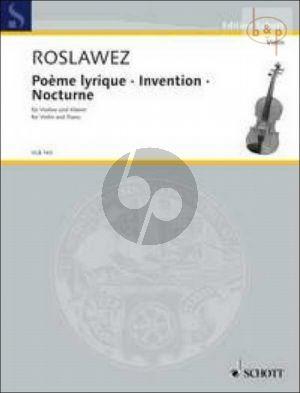 Poeme Lyrique-Invention-Nocturne