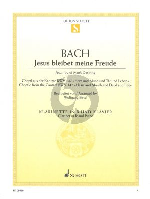 J.S. Bach Jesus bleibet meine Freude from BWV 147 Clarinet-Piano