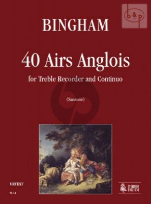 40 Airs Anglois Treble Recorder-Bc