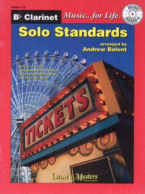 Solo Standards for Clarinet (Bk-Cd) (arr. Andrew Balent) (level 1 - 2)