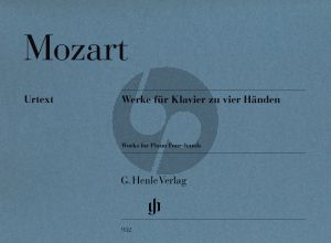 Mozart Werke fur Klavier 4 Hande (Revised edition) (edited by Peter Jost) (fingering by Andreas Groethuysen) (Henle-Urtext)