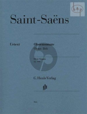 Saint-Saens Sonate Op. 166 Oboe and Piano (edited by Peter Jost) (Henle-Urtext)