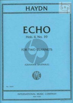 Echo Hob.II:39 2 Clarinets