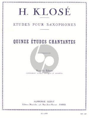 Klose 15 Etudes Chantantes Saxophone (Marcel Mule)