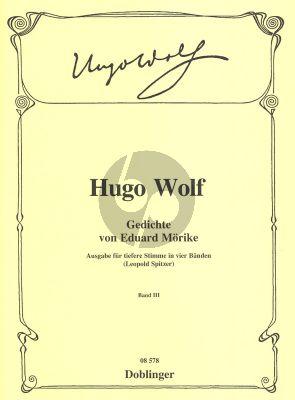 Wolf Gedichte von Eduard Moricke Vol.3 Tiefere Stimme (edited by Leopold Spitzer)