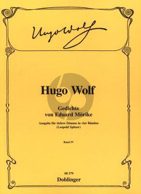 Wolf Gedichte von Eduard Moricke Vol.4 Tiefere Stimme (edited by Leopold Spitzer)