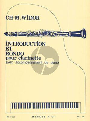 Widor Introduction et Rondo Opus 72 Clarinette et Piano