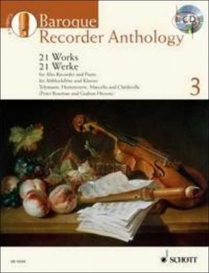 Baroque Recorder Anthology Vol.3 (21 Works) (Treble Rec.-Piano)