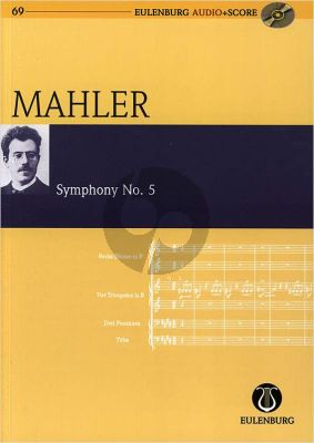 Mahler Symphony No.5 Study Score with Audio CD (Eulenburg)