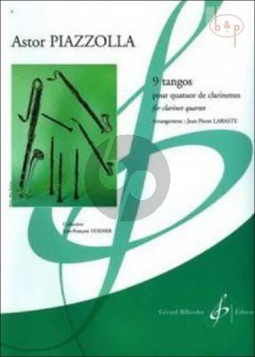 9 Tangos (3 Clar.[Bb]-Bass Clar.[Bb]) (Score/Parts) (arr. J.P.Labaste)
