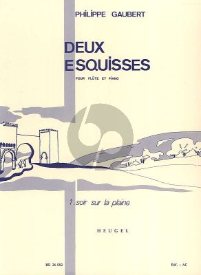 Gaubert 2 Esquisses No.1 Soir sur la Plaine Flute-Piano