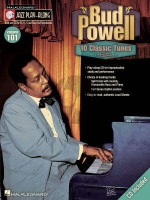Bud Powell 10 Classic Tunes for all C-Bb-Eb and Bass clef Instruments (Jazz Play-Along Sereies Vol. 101) (Bk-Cd)