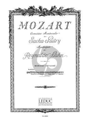 Hahn Air de la Lettre No.3 extrait de 'Mozart' Chant et Piano (Sacha Guitry)