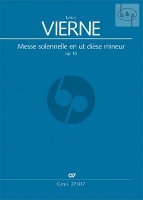 Messe solenelle C-sharp minor Op. 16 SATB- 2 Organs Score