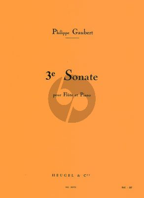 Gaubert Sonate No.3 Flute and Piano