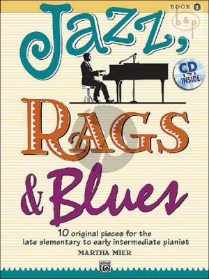 Mier Jazz-Rags & Blues Vol.1 Piano Solo (Book with Cd) (Late Element. to Early Interm.Level)