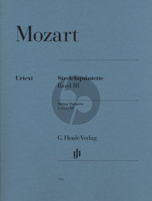 Mozart Quintets Vol. 3 (KV 593 and KV 614) Strings (Parts) (edited by Ernst Herttrich and W.D.Seiffert) (Henle-Urtext)