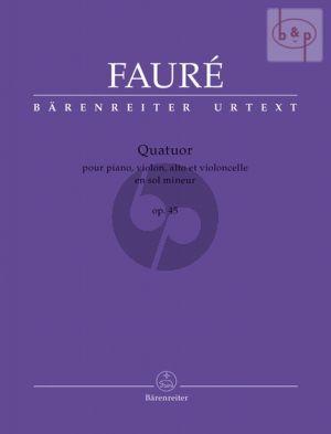 Quatuor g-minor Op.45 (Piano-Vi.-Va.-Vc.) (Score/Parts)