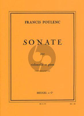 Poulenc Sonate Violoncelle - Piano (Nouvelle edition corrigée 1953)
