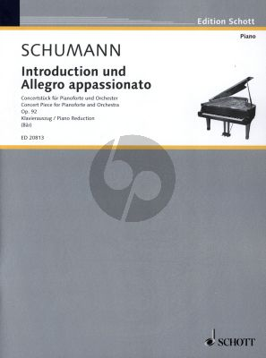 Schumann Introduction and Allegro Appassionata Op.92 (Piano-Orch.) Edition for 2 Piano's (edited by Uwe Bar) (for performance 2 copies required)