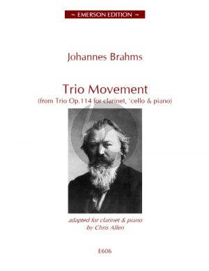 Brahms Trio Movement for Clarinet and Piano
