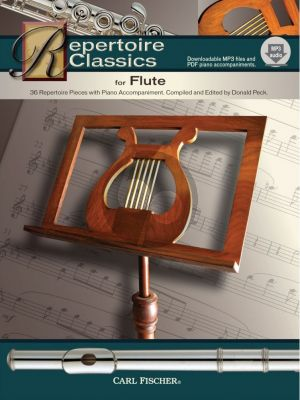 Album Repertoire Classics (36 Classic Solos) Flute-Piano Book with Audio Online (edited by Donald Peck)