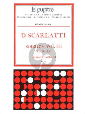 Scarlatti Sonates Vol.3 K.104-155 Clavier (Kenneth Gilbert) (Le Pupitre)
