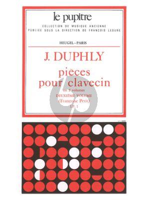 Duphly Pieces de Clavecin Vol.2 (Francoise Petit) (Le Pupitre)
