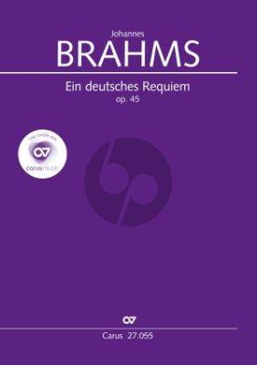 Brahms Ein Deutsches Requiem Op. 45 SB soli-SATB-Orchester (Partitur) (Günter Graulich)