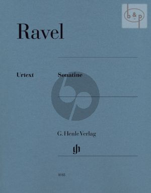 Ravel Sonatine Piano (edited by Peter Jost) (Henle-Urtext)