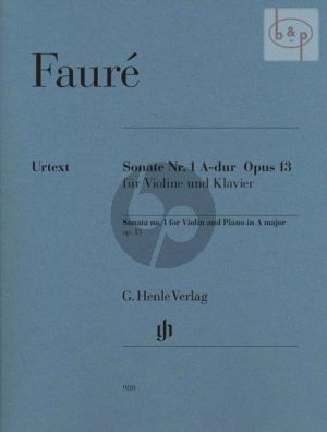Faure Sonata No.1 A-major Op.13 Violin and Piano (edited by Fabian Kolb) (Henle-Urtext)