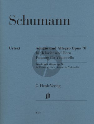 Schumann Adagio & Allegro Op.70 Violoncello-Klavier