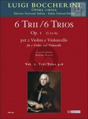 6 Trios Op.1 Vol.2 (No.4 - 6) (G.80 - 81 - 82) 2 Violins-Violoncello