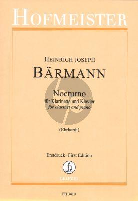 Baermann Nocturno Clarinet-Piano (edited by Susanne Ehrhart) (first ed.)