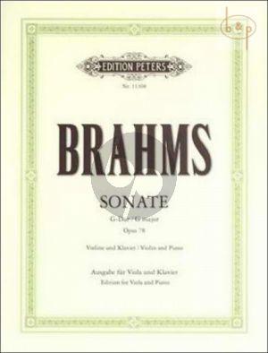 Sonata G-major Op.78 Viola and Piano