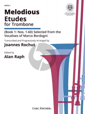 Rochut Melodious Etudes Vol.1 (after the Vocalises of Marco Bordogni) (Bk-Online Audio) (edited by Alan Raph)