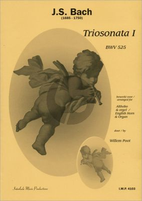 Bach Triosonate BWV 525 E-flat major for Cor Anglais and Organ[manualiter] (Score/Parts)