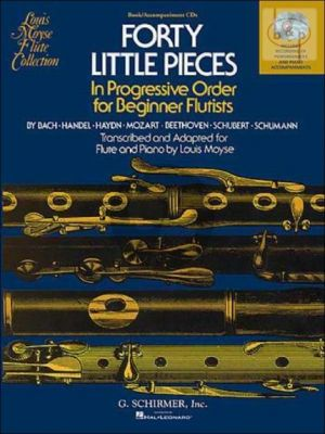 Moyse 40 Little Pieces in Progressive Order for Beginner Flutists for Flute and Piano (Book and Online Audio Access)