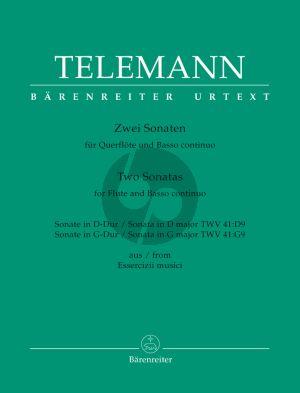2 Sonatas  D-dur TWV 41:D9 & G-Dur TWV 41:G9 (Essercizii Musici) Flote und Basso Continuo