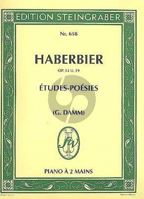 Haberbier Etudes Poesies Op.53 - Op.59 Klavier (Gustav Damm)