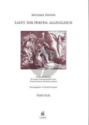 Lauft, ihr Hirten, allzugleich (germ./engl.) (Weihnachts-Kantate) (Sopr.solo-Mixed Chorus- String Orch.-Bc) (Score) (Rudolf Ewerhart)