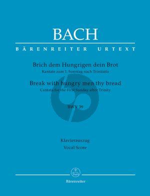Bach Kantate BWV 39 Brich dem Hungrigen dein Brot (Vocal Score) (germ./engl.) (Barenreiter-Urtext)