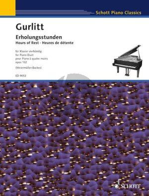 Gurlitt Erholungsstunden - Hours of Rest Op. 102 Piano 4 hds (edited by Isolde Weiermuller-Backes)