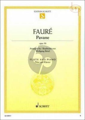 Pavane Op.50 Flote - Klavier
