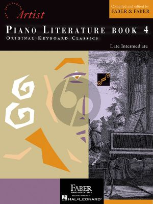 Faber Hartmann Piano Adventures - Literature Book 4 Developing Artist Original Keyboard Classics (Book with Cd)