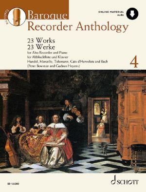 Baroque Recorder Anthology vol.4 Treble Recorder and Piano