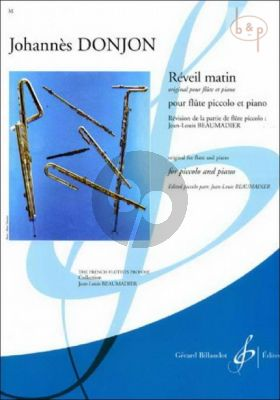 Reveil Matin (orig. Flute in C) (A-major) (transcr. J.L. Beaumadier)